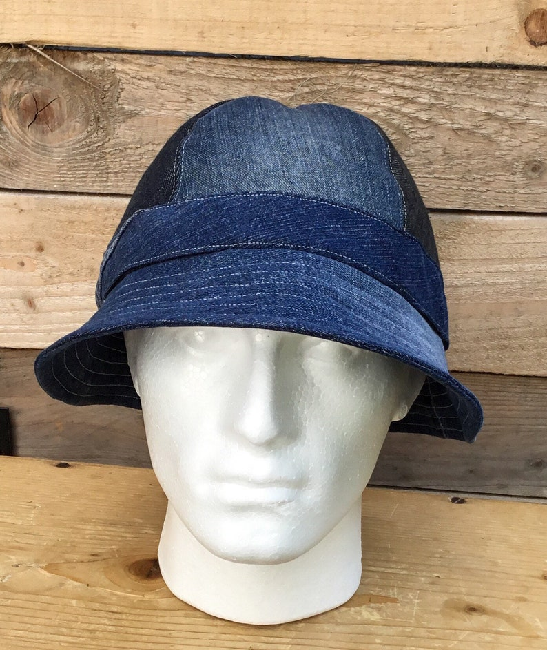 bcbd3a72d4f42 Mens denim bucket hatbucket hatrecycled fabricmens summer