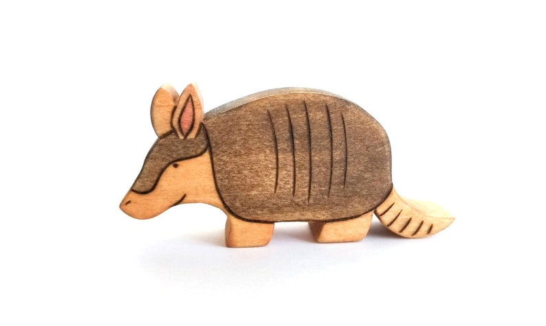 Armadillo Toy  Waldorf Toy  Handmade Wooden Toy image 0