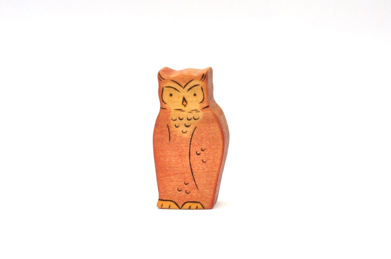 Owl Toy  Handmade Wooden Toy  Nature Toy image 0