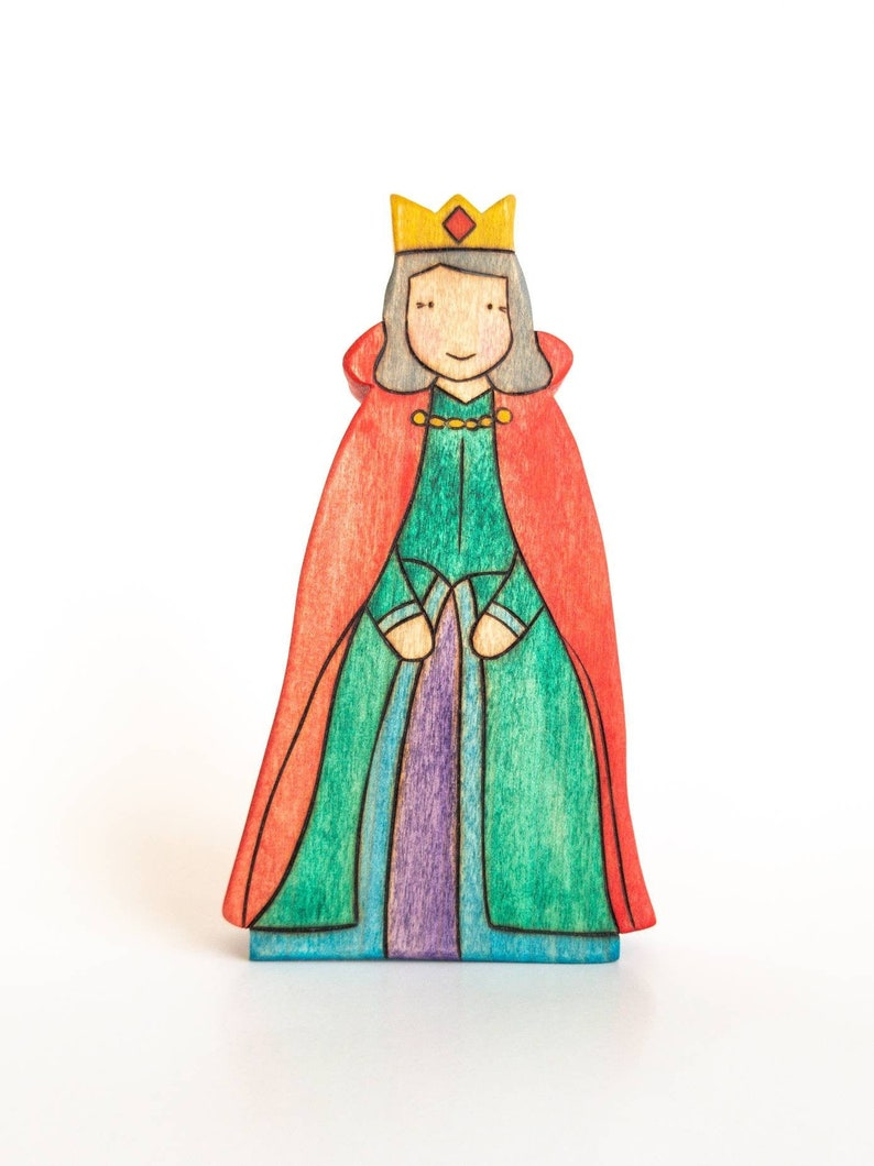 Queen Toy  Waldorf Toy  Handmade Wooden Toy image 0