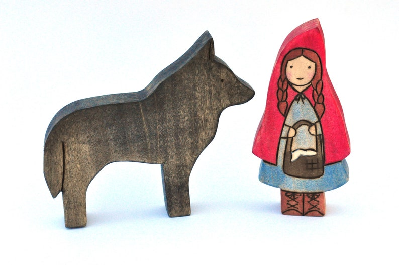 Little Red Riding Hood & Big Bad Wolf  Handmade Toy image 0