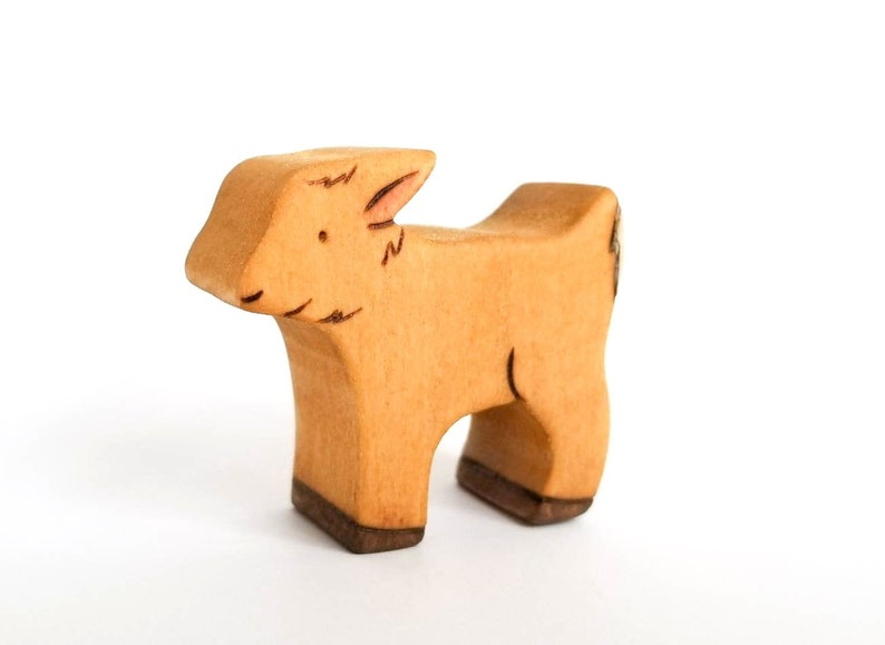 Baby Goat Toy  Waldorf Toy  Handmade Wooden Toy image 0