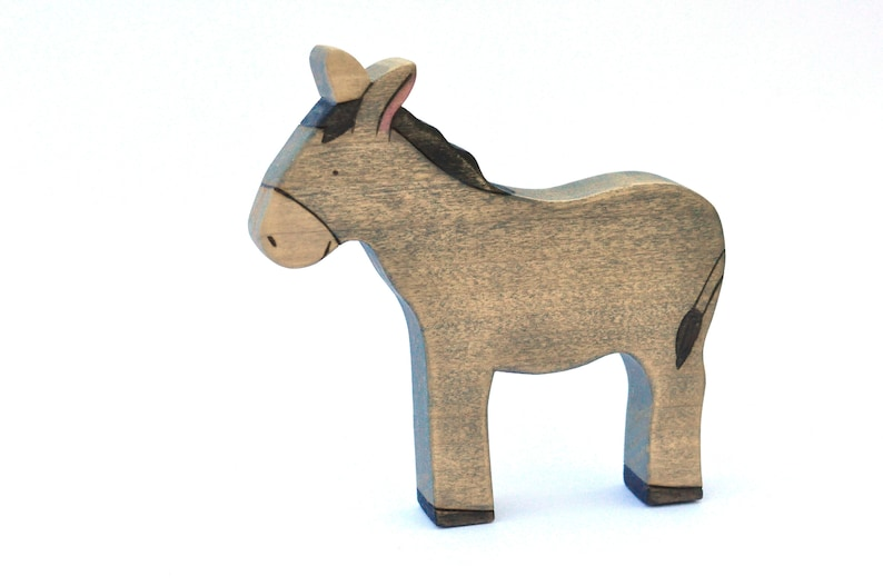 Donkey Toy  Farm Toy  Animal Toy  Wooden Toy image 0
