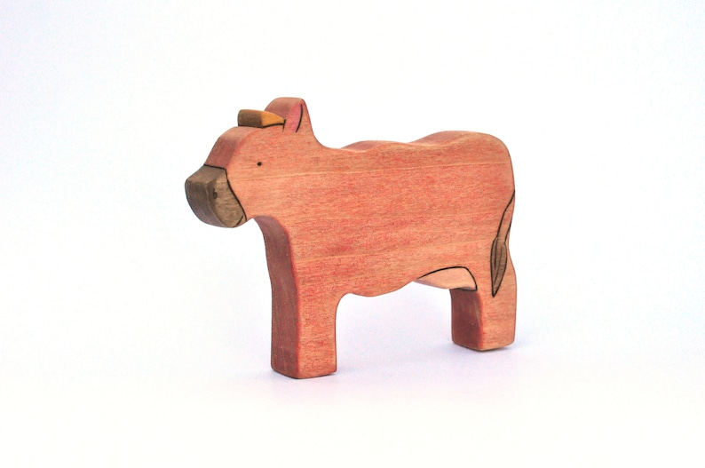 Cow Toy  Farm Toy  Animal Toy  Wooden Toy image 0