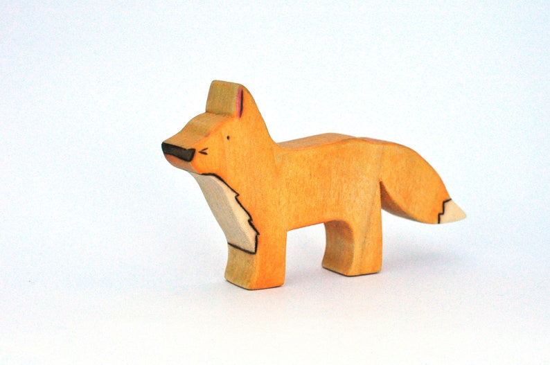 Fox Toy  Handmade Wooden Toy  Waldorf Toy image 0
