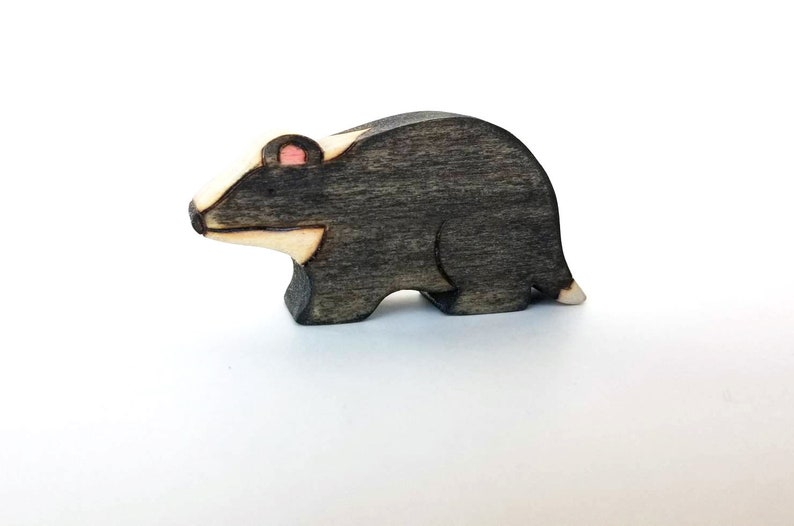 Badger Toy  Handmade Wooden Toy  Waldorf Toy image 0