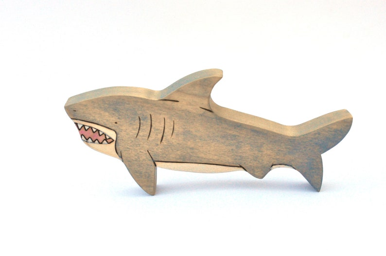 Shark Toy  Wooden Toy  Handmade Toy  Waldorf image 0