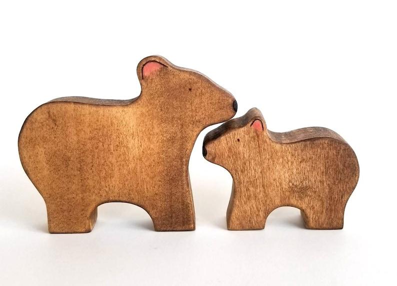 Mama & Baby Bear Toys  Handmade Wooden Toys  Waldorf Toys image 0