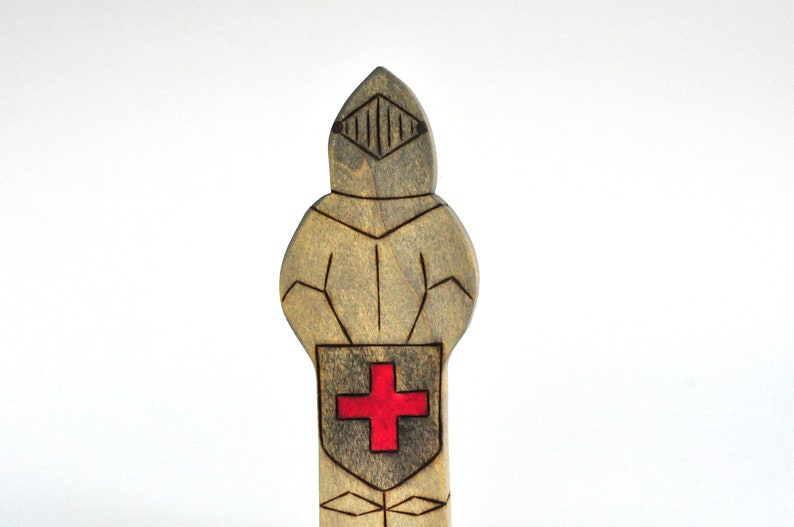 Knight Toy  Handmade Toy  Wooden Toy  Waldorf Toy image 0