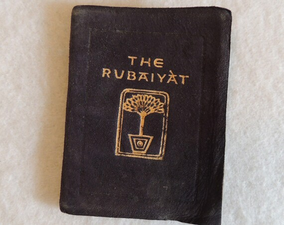 Vintage Antiquarian Miniature Book THE RUBAIYAT.. Saalfiald.. Suede Cover