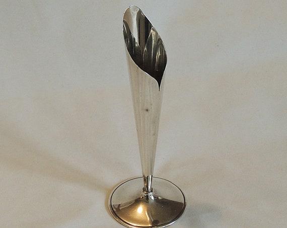 Vintage Plat-Mex S.A. Eagle 20 Sterling Silver 925 Bud Vase Posy Holder Modernist Design 60 grams