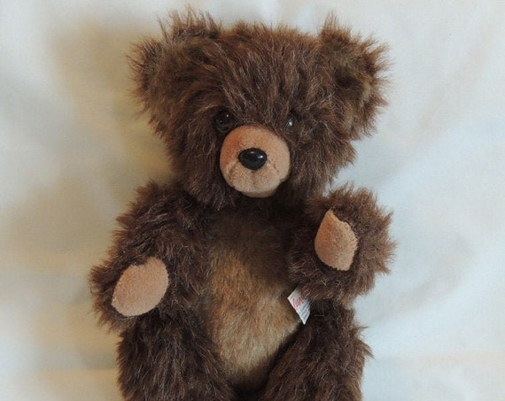 Vintage 1972 TEDDY BEAR 15 Inch Two Tone Fur.. Made In Isreal
