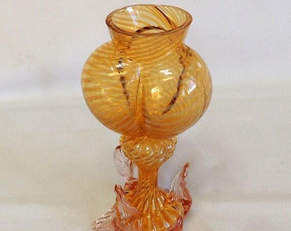 Victorian Hand Blown Bohemian Glass Vase by Franz Welz