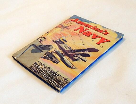America's Navy by Shepherd Knapp.. WWII era HB Children's Vintage Book.. 1942