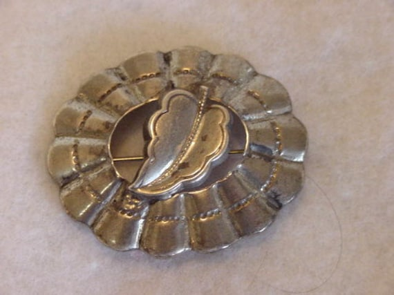 Vintage Sterling Silver Brooch / Pin.. Native American Southwest Style