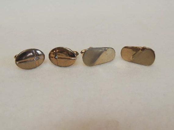 2 Sets Of Goldtone Men's Cufflinks From 1960's.. SWANK