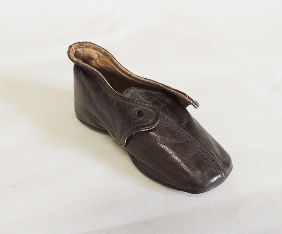 Sollers & Co. Vintage Victorian Leather Baby Shoe.. Rare Estate Find!