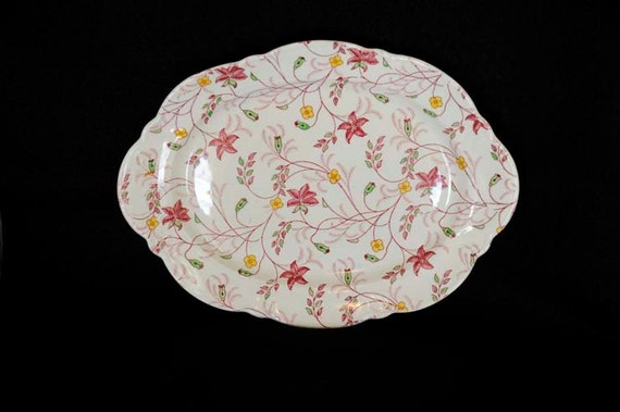 "Vintage Taylor Smith Taylor Co. U. S. A. 11.5"" PLATTER.. CHELSEA CHINTZ"