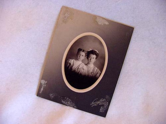 Cabinet Photo Of Two Young Girls By Lucerne Studio Portland, Ore. Circa 1890