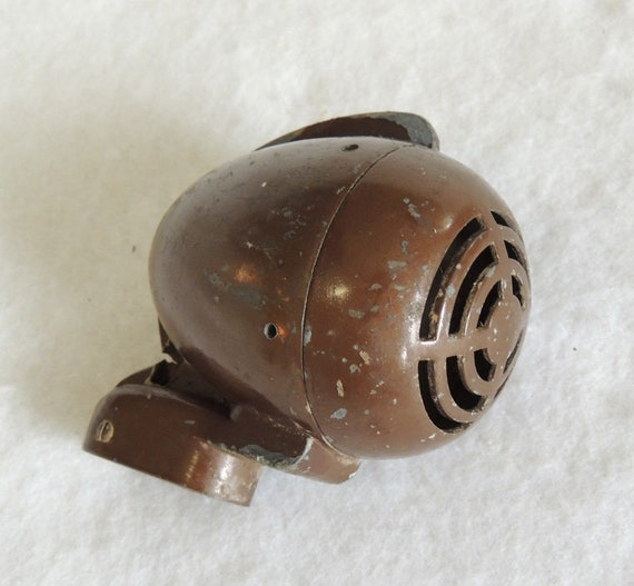 Vintage Turner BX Crystal Harp Microphone Housing.. Deco Bullet Design