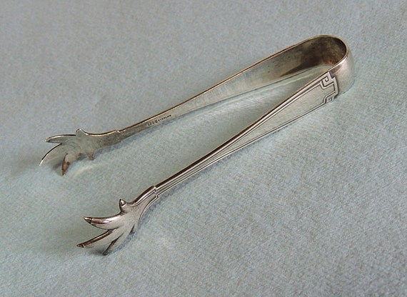 Antique Sterling Silver Sugar Tongs.. Gorham Etruscan 1913.. Old Mark