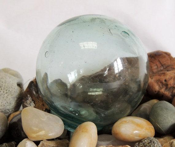 Vintage Japanese Glass Fishing Float.. Sky Blue & Many bubbles (#82)