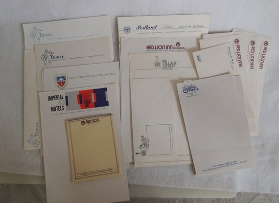 Vintage Oregon Hotel Motel Stationery Lot.. Paper & Envelopes.. 48 Pieces