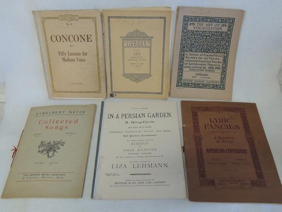 Estate Vintage Music Singing Songbooks.. Lot of 6..  1889-1920