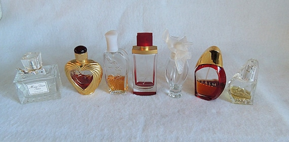 Vintage Used Perfume Bottle Lot..7 Full Size Some With Contents