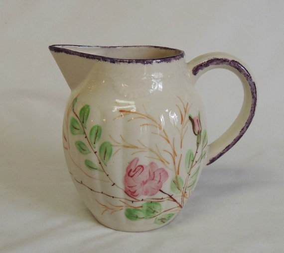 Vintage Blue RidgeSouthern Potteries Party-Goer Pattern Virginia Shaped Pitcher