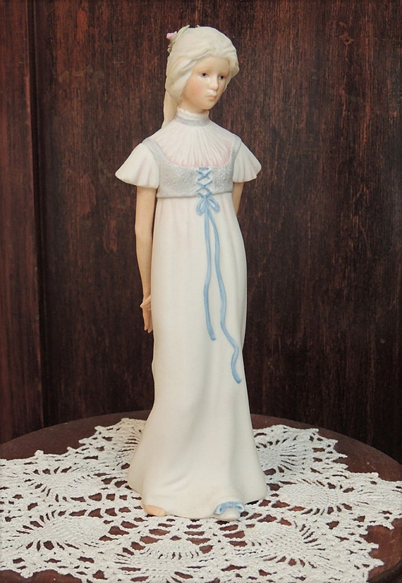 "Vintage Cybis Bisque Porcelain young Women Figurine ""BETTY BLUE"".. Signed CYBIS"