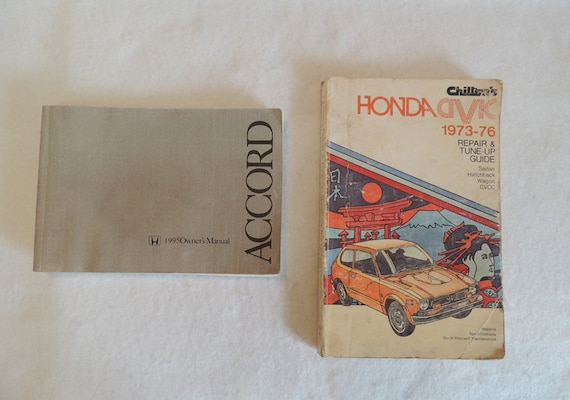 2 Honda Owners / Repair / Tune Up Manuals.. Chiltons Civic 1973-76 & Accord 1995