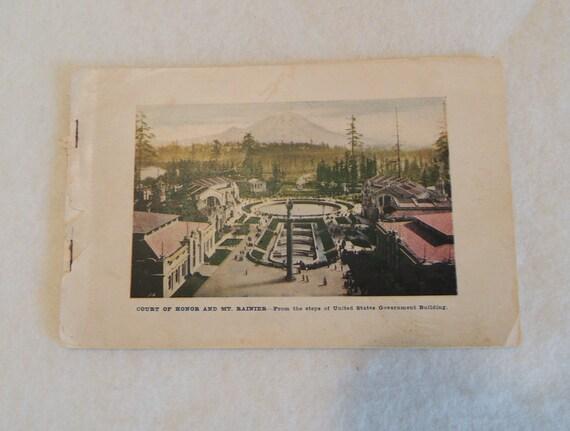 1909 Pacific Exposition Seattle WA Booklet.  Alaska Yukon 24 Color Photos