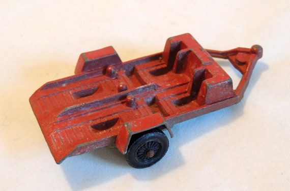 1969 Vintage Collectible Diecast Tootsietoy Two Bike Motorcycle Trailer Toy USA
