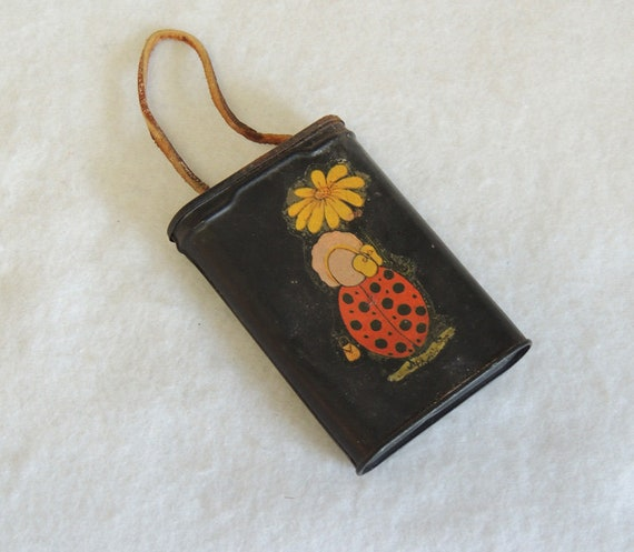 Vintage.. Little Purse / Carrying Pouch Made From Old PRINCE ALBERT Tobacco Tin