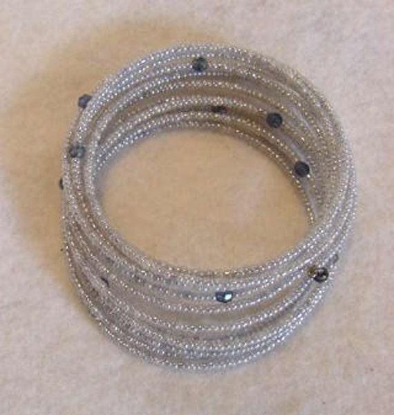 Vintage Micro Seed Bead Coil Bracelet