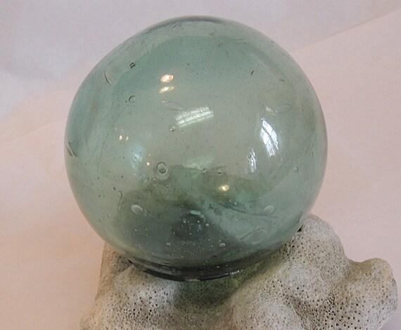 Vintage Japanese Glass Fishing Float.. Rare MADE IN JAPAN Kanji Maker's Mark  (#53)