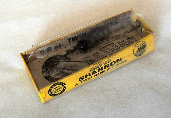 Early Vintage Shannon 5/8 Oz Twin Spinner Fishing Lure With Box