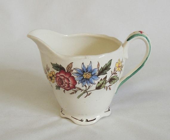 Vintage Grindley Cream Pitcher.. Marlborough Royal Petal CELIA Pattern..England