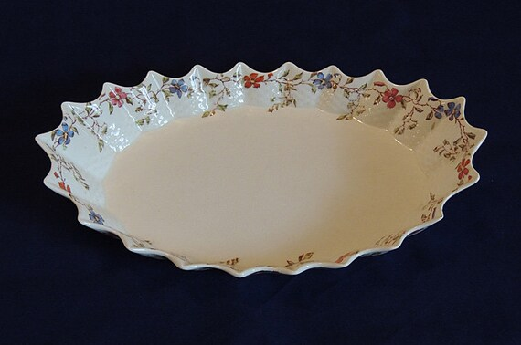 Rare Vintage Jubilee Oval Tray Platter COPELAND SPODE England Wicker Dale Pattern