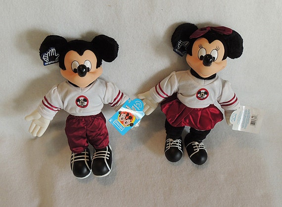 Applause Vintage Disney Mickey Minnie Mouse Cheerleader Dress Ups With Tags
