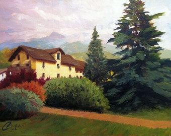 """Original oil Italy painting, """"Late Summer in the Italian Alps"""", 18x24"""""""