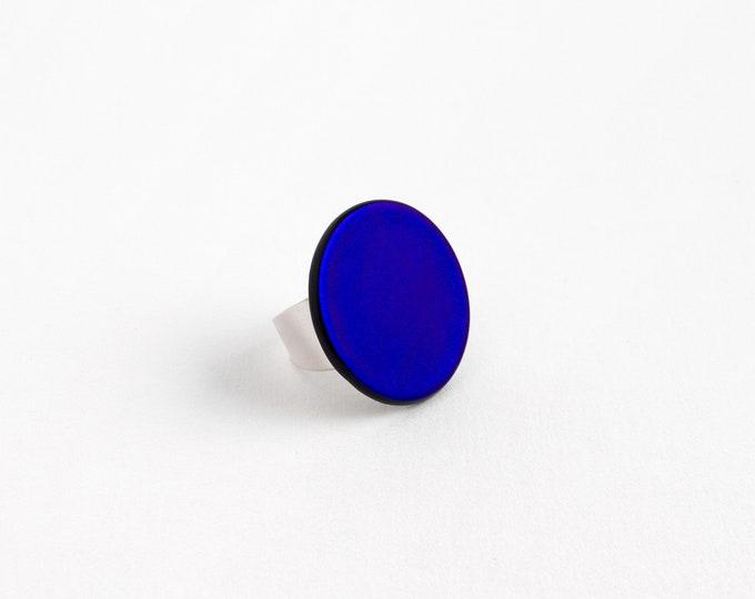 Cobalt Blue Dichroic Ring