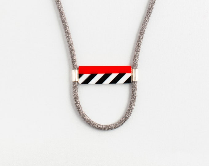 Street Lines Orange Necklace