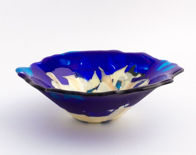 Cobalt Blue Agglomerated Bowl