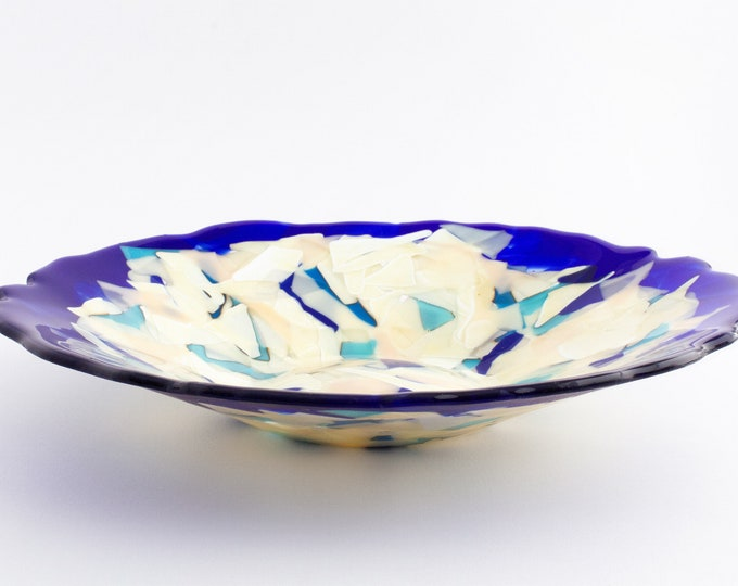 Cobalt Blue Agglomerated Plate