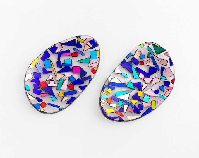 Dichroic Mini Plates (set 2 pieces)