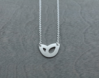 small double teardrop necklace, sterling silver