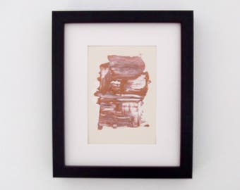 Original Abstract Framed Painting Ecru,Copper,White  No1, Canvas wall decor, Framed Art, Fine Art, Neutral Pallet, Affordable Art Gifts