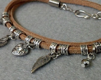 Double Wrap Charm Bracelet